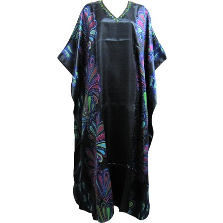 Missy Plus Bohemian Beaded Long Maxi Caftan Dress Beach Coverup #18 - Plus Size Beaded Flapper Dress