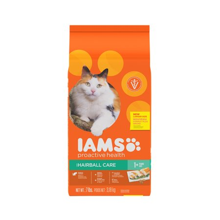 IAMS PROACTIVE HEALTH HAIRBALL CARE Dry Cat Food 7 Pounds
