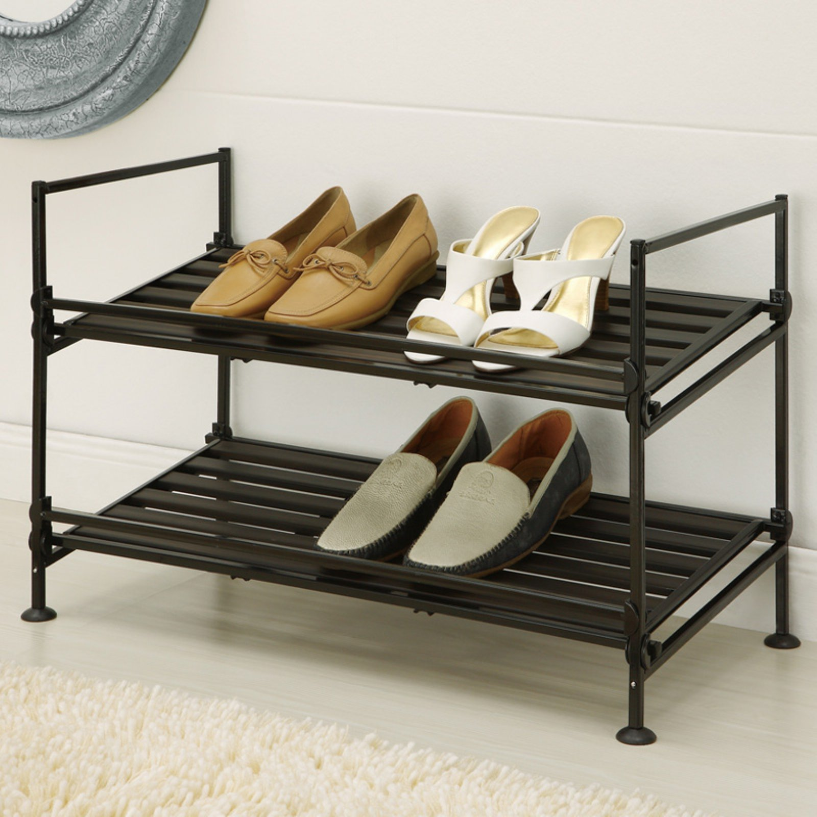 Ebonize 2 Tier Shoe Rack