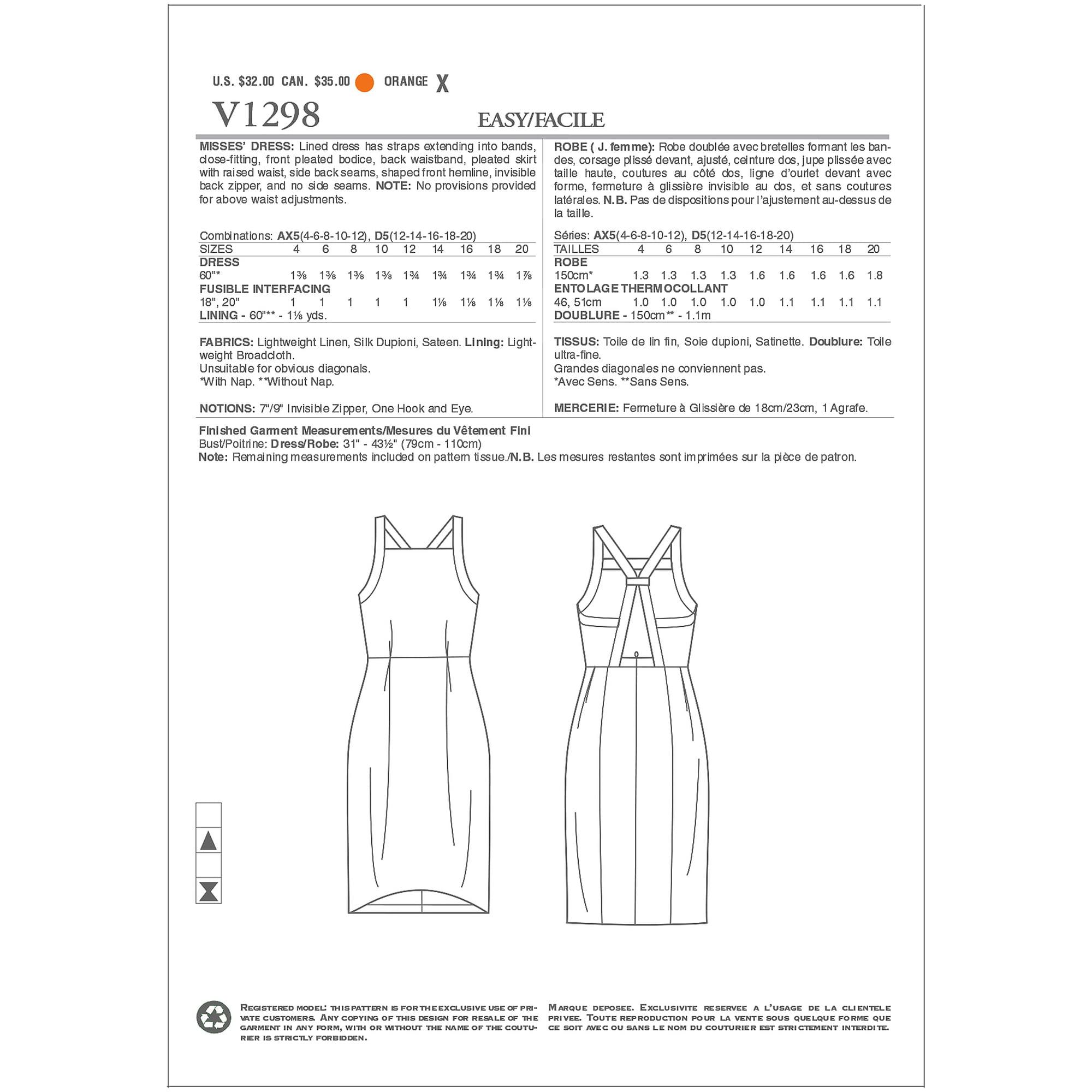 Misses Dress-D5 (12-14-16-18-20)