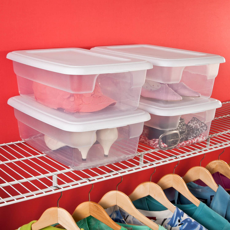 Sterilite 12 Quart Storage Box- White (Available in Case of 15 or Single Unit)