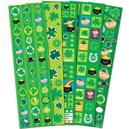 St. Patrick's Day Stickers - Pack of 5 Sticker - St Patricks Day Coloring Sheet
