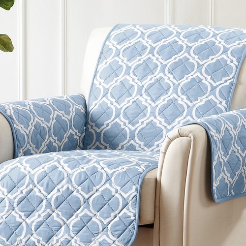 Winston Porter Printed Reversible T-Cushion Slipcover