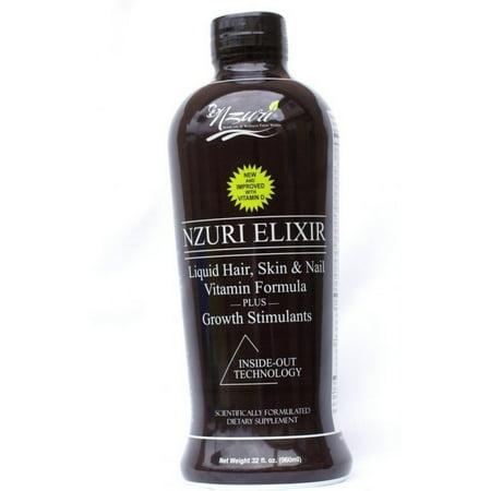 Nzuri Elixir liquide Cheveux Vitamin Plus croissance Stimulants 32 oz