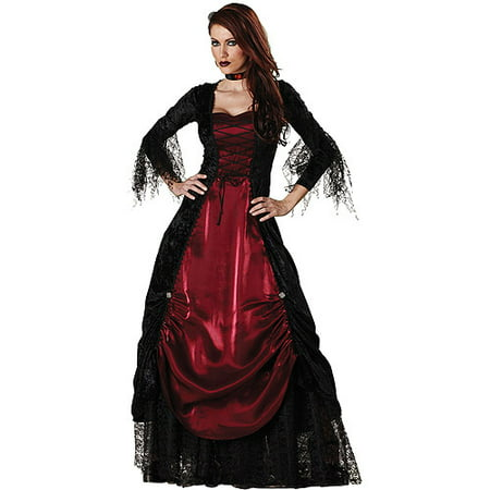 Vampire Gothic Adult Halloween Costume (Girl Halloween Vampire Makeup)