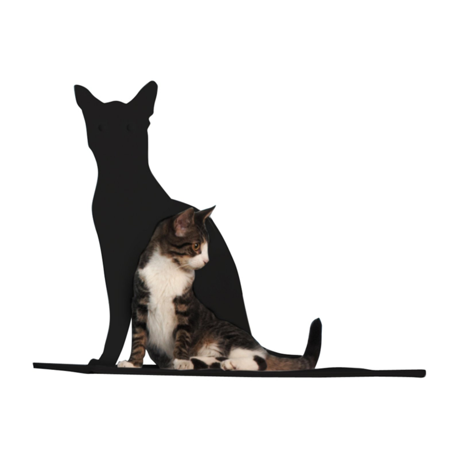 Refined Feline Cat Silhouette Cat Shelf Perch
