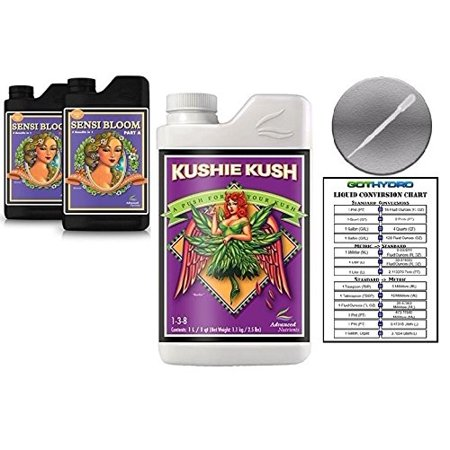Advanced Nutrients Sensi Bloom A & B 1L & Kushie Kush 1L Bundle with GotHydro Conversion Card and