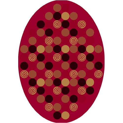 Milliken Innovation Da T Da Cherry Area Rug