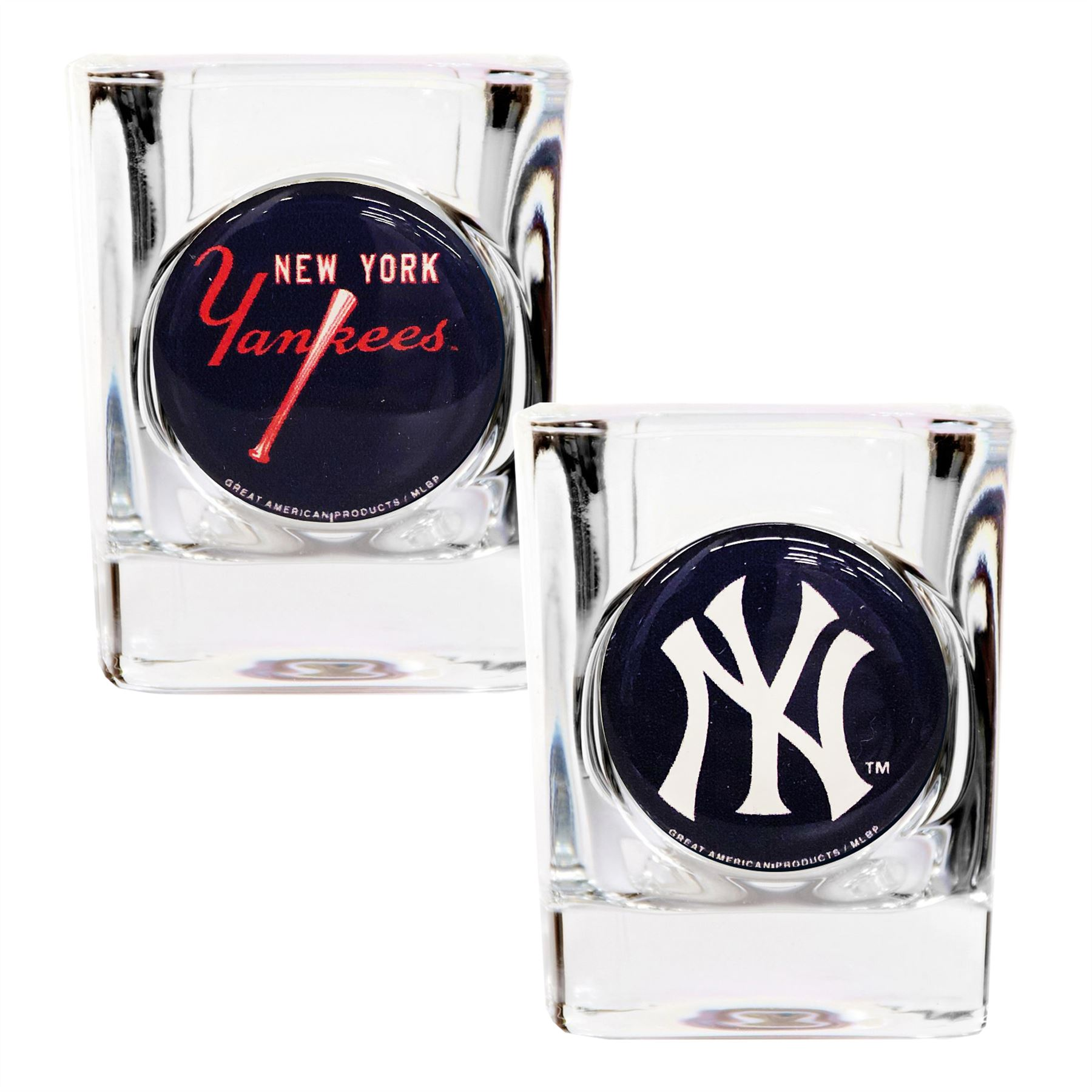 Great American Products MLB New York Yankees 2-Pack Shot Glass Gift Set