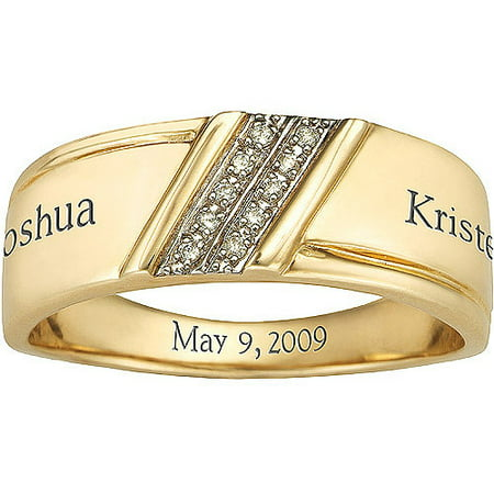 Keepsake Men's Diamond Forever Wedding Band in 10kt Gold