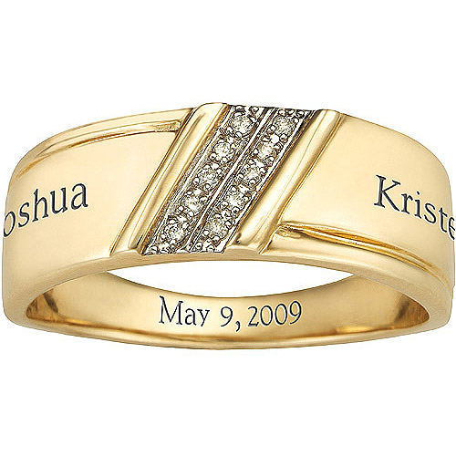 Keepsake Menu0027s Diamond Forever Wedding Band In 10kt Gold   Walmart.com