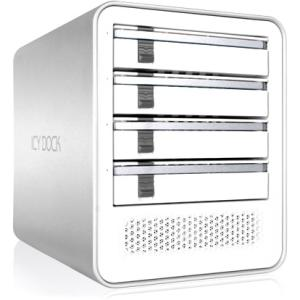 "Icy Dock MB561U3S-4S R1 Drive Enclosure External - White, Silver - 4 x HDD Supported - 4 x Total Bay - 4 x 2.5""/3.5"" Bay - UASP Support - Serial ATA/600 - eSATA, USB 3.0 - Aluminum, Plastic"