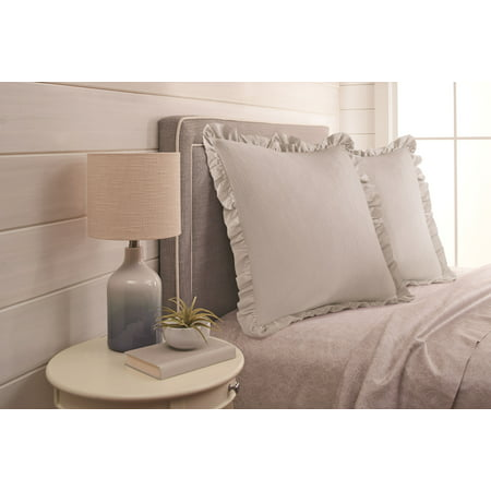 Better Homes and Gardens Raw Edge Ruffle Euro Pillow Sham ()