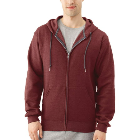 Fruit of the Loom Big Men's Dual Defense EverSoft Fleece Full Zip Hooded (Adult Black Zip Hoodie)