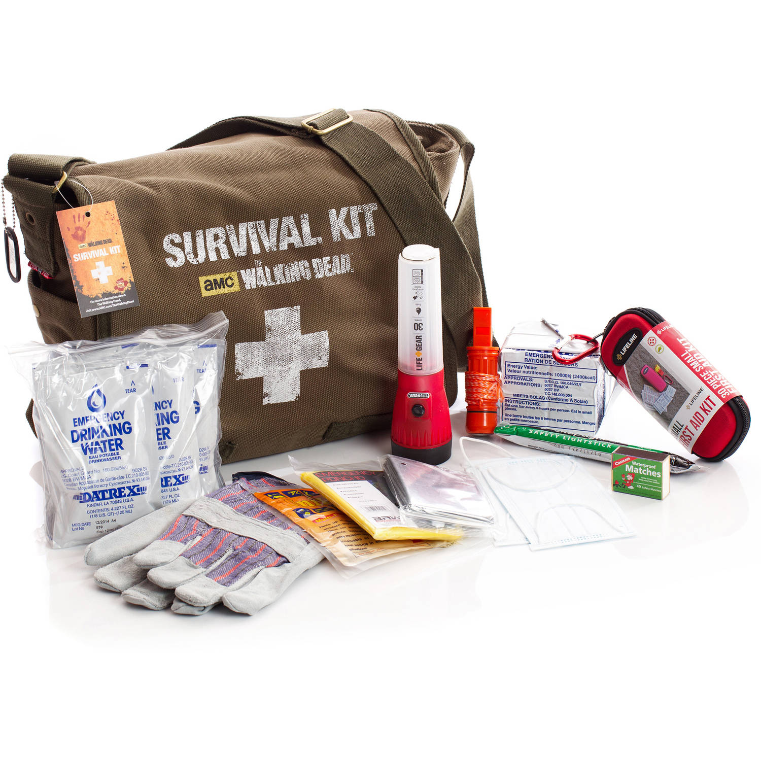 AMC The Walking Dead Survival Kit, 1-Person, 72 Hours by First My Family