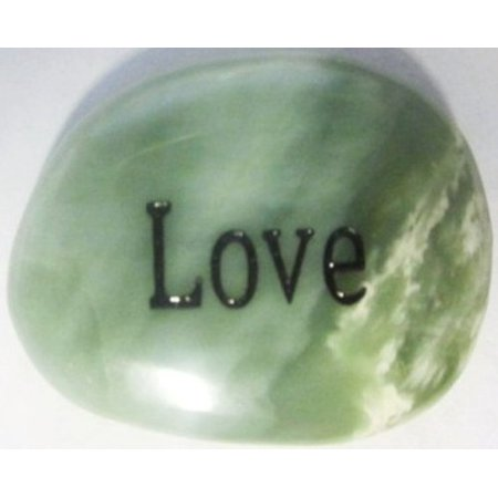 Engraved Polished Stone (Engraved Stone : Love )