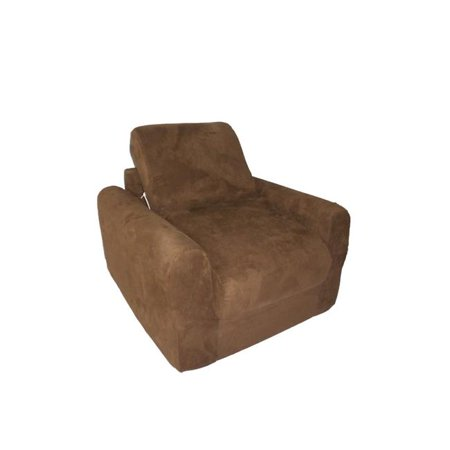 Chair Sleeper Brown Micro Suede