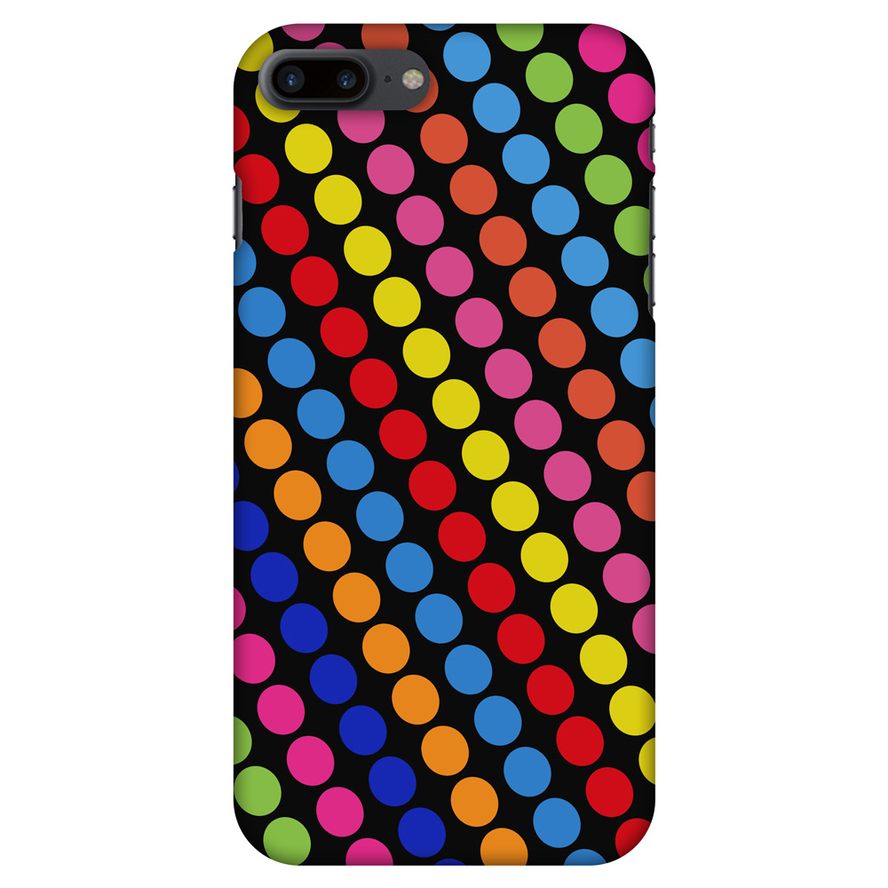 iPhone 7 Plus Designer Case, Premium Handcrafted Printed Designer Hard ShockProof Case Back Cover for iPhone 7 Plus - Funky Dot Stripes, 5.5 Inch iPhone 7, HD Color, Soft Finish