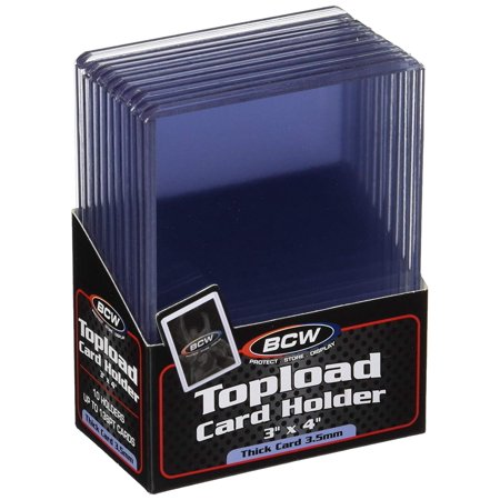 Thick 138PT Card Top Load Holder (Pack of 10), 3 x 4