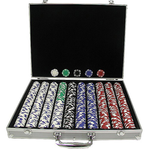 Trademark Poker 1000 Royal Suited 11.5 Gram Chips with Aluminum Case by TRADEMARK GAMES INC