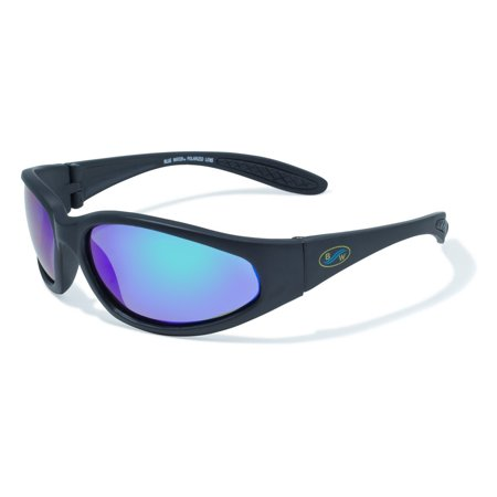 Sharx Series Sunglasses with Matte Black Frames and GT-Marine Lenses, UV400 filter for maximum UV protection By BluWater Polarized From