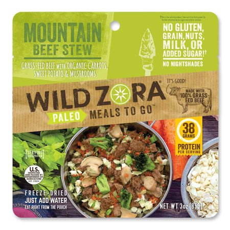 Mountain Beef Stew - Paleo Meals to Go - Freeze Dried, Lightweight, Paleo Meals for Backpacking, Camping, and on the Go Mountain Beef