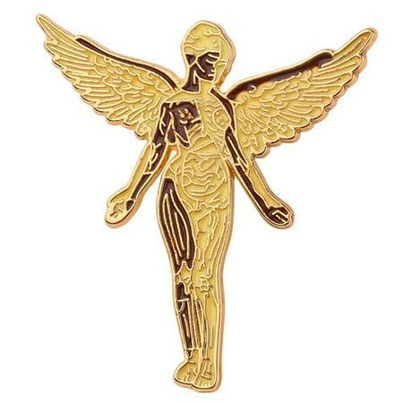 KABOER Metal Angel Pendant Wings Badge Lapel Pin Fashion Set Fan Gift Accessory