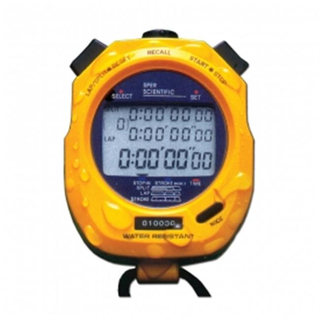 Sper Scientific 810048 Water Resistant Speed Calculating Stopwatch - Decimal Display