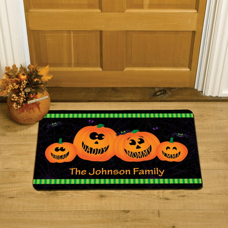 Personalized Stacked Pumpkins Doormat