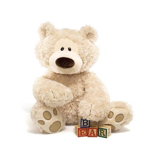 Philbin Teddy Bear Stuffed Animal, 18 inches, Beige plush...