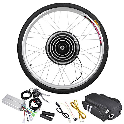 Add-On Motorize Bike 48v 1000w 26-Inch Front Wheel Electr...