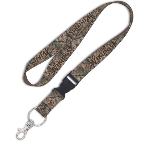 Minnesota Vikings WinCraft Camo Lanyard with Detachable Buckle - No Size