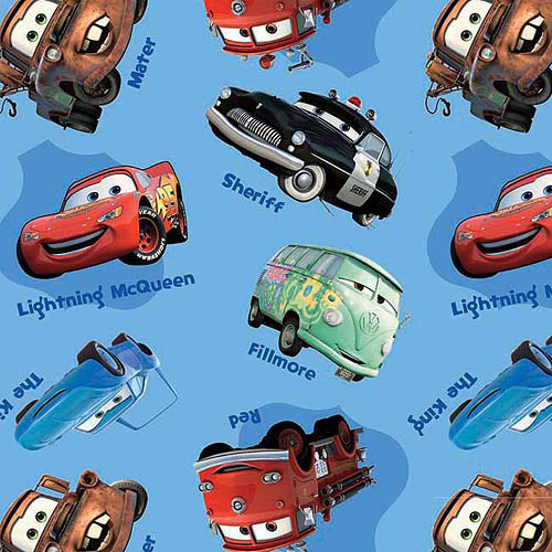 "Springs Creative Disney Cars All Over 44"" wide Fabric by the Yard"