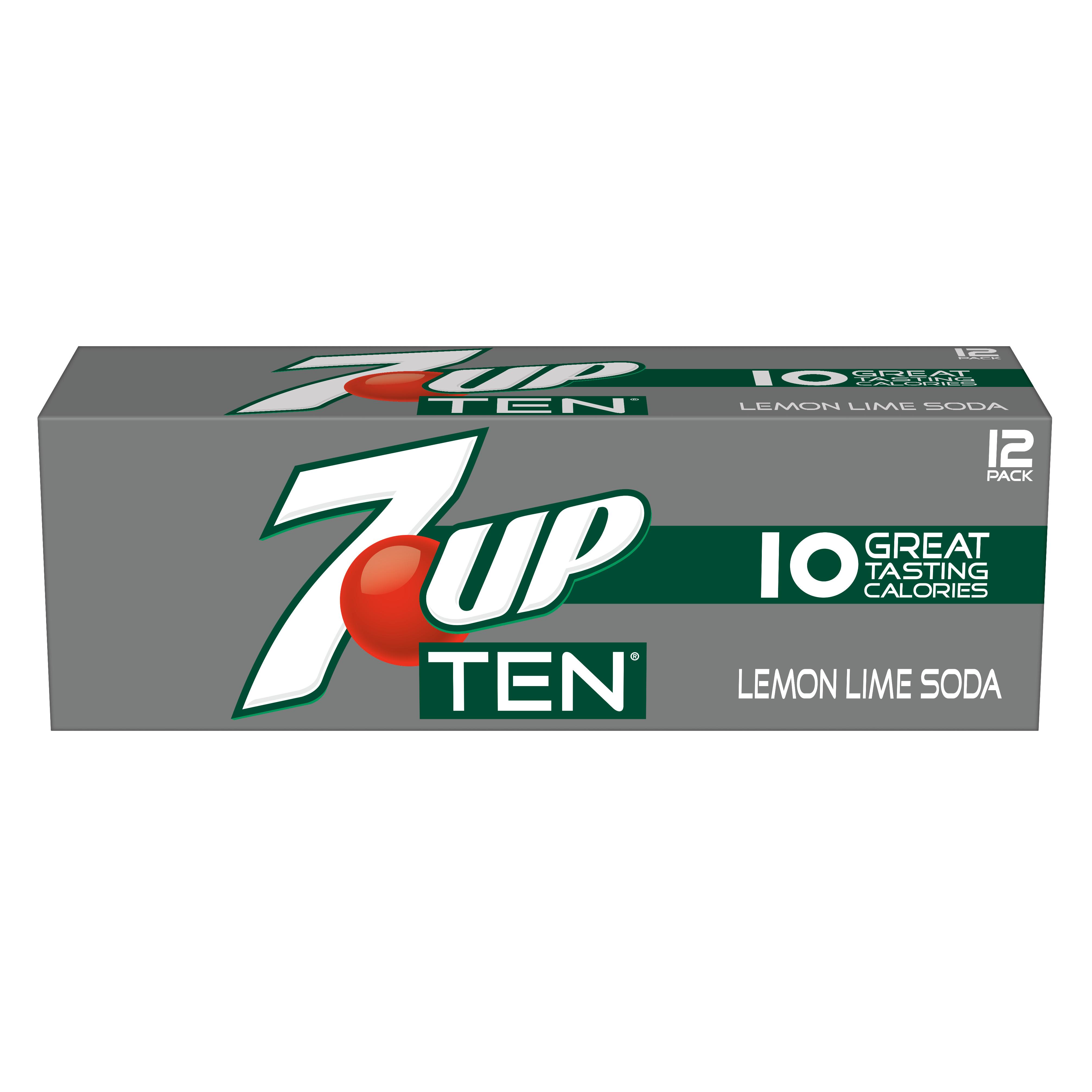 Image of 7UP TEN, 12 fl oz, 12 pack