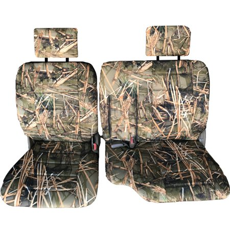 Seat Cover for Toyota Pickup 1989 - 1995 60/40 Split Bench Thick Adjustable Headrest Armrest Access A57 Muddy Water Camo