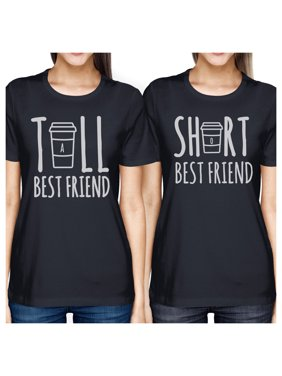 33e6cd9b4 Product Image Tall Short Cup BFF Matching Shirts Womens Navy Graphic Cotton  Tee. 365 Printing