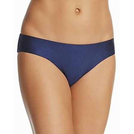 Becca Womens Swimsuit - Becca NEW Blue Womens Size Large L Reversible Bikini Bottom Swimwear