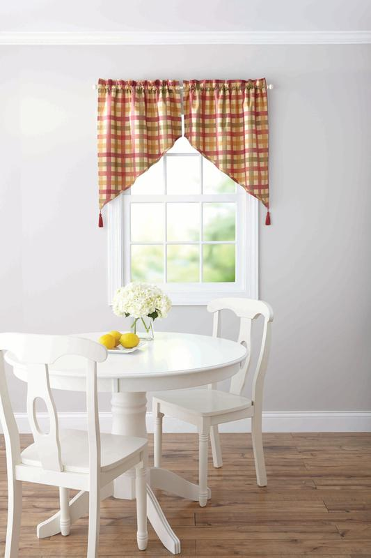 Better Homes & Gardens Red Check Valances by Keeco