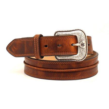 Ariat Accessories Men's Center Bump Belt 42 Aged Bark Ariat Mens Work Belt