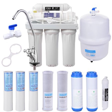 Yescom 5-Stage Home Drinking Aquarium RO Reverse Osmosis System and Extra 8 Water Filters 50 GPD Aquarium Reverse Osmosis System