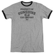 Taxi Property Of Sunshine Cab Mens Adult Heather Ringer Shirt