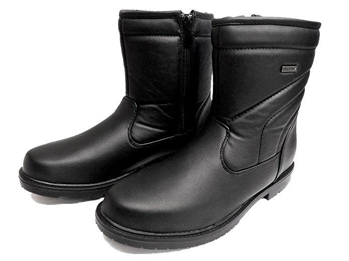 CLIMATE X S700B Mens Black Waterproof Side Zip Warm Lined Winter Snow Boots by Climate X