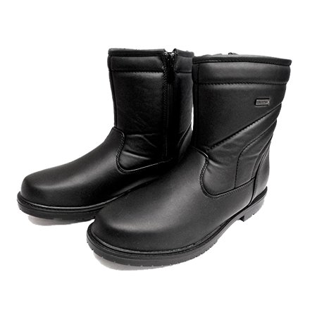 CLIMATE X S700B Mens Black Waterproof Side Zip Warm Lined Winter Snow Boots
