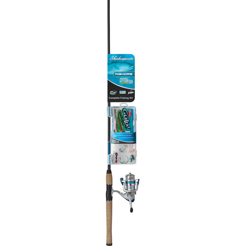 """Shakespeare Catch More Fish 7'0"""" Inshore Medium Action Spinning Combo, 2pc, 1-Bearing"""