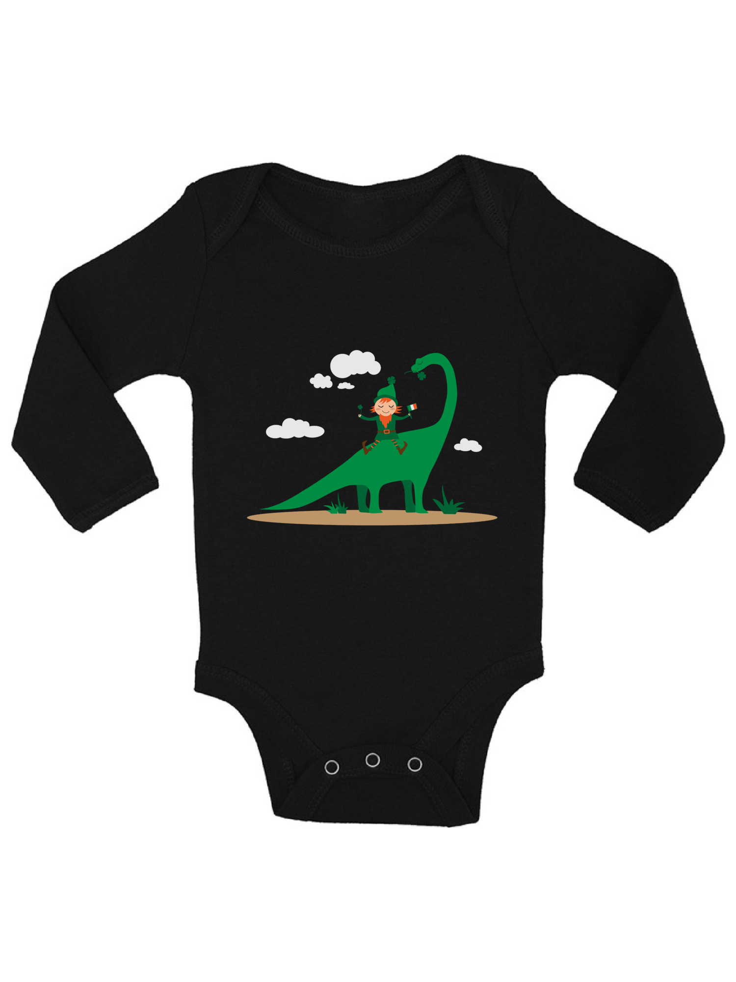 Newborn Kids Happy Dinosaur Surfer Wearing Sunglasses Printed Long Sleeve 100/% Cotton Infants Tops