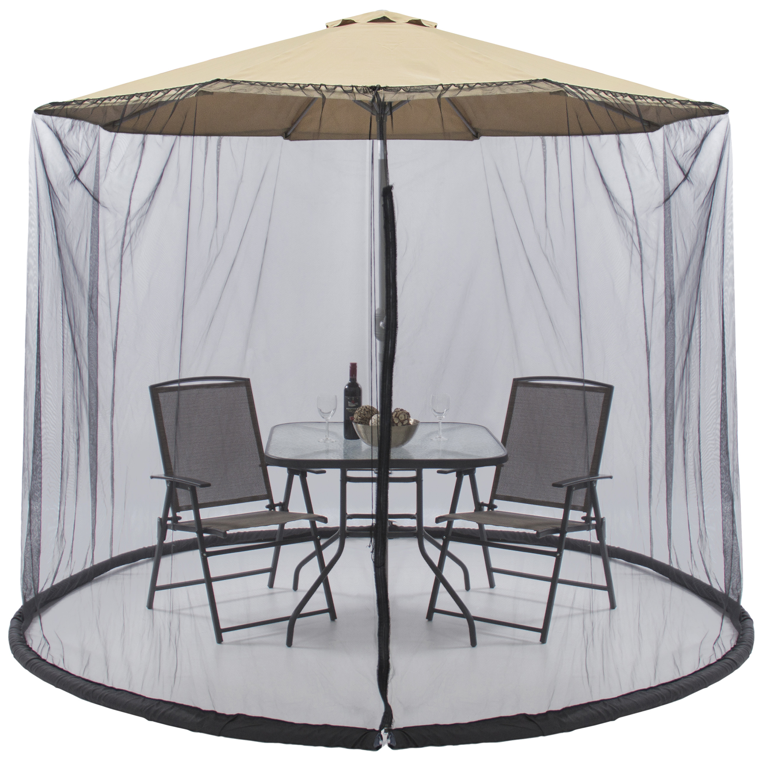 Best Choice Products Outdoor 9 Foot Patio Umbrella Screen   Black