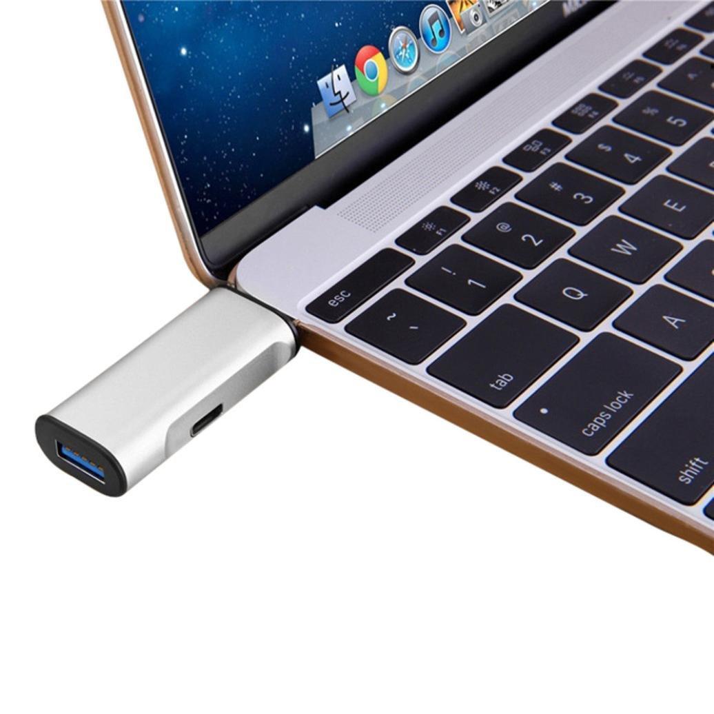 GBSELL USB 3.0 Hub Adapter USB_C Type C Charging & Data S...