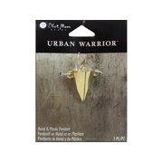 BMB Urban Warrior Pendant Mtl Pointy Gold
