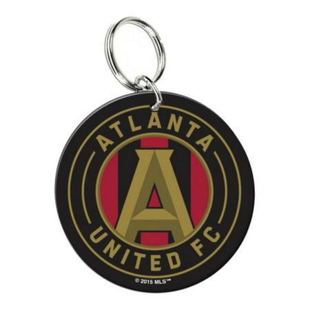 Atlanta United FC WinCraft Black & Red Circular Premium Acrylic Keychain (Blank Acrylic Keychains)