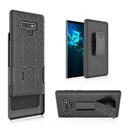 official photos 984fd 722f8 Samsung Galaxy Note 9 Case, Galaxy Note 9 Slim Swivel locking Belt Clip  Holster Shell Combo Kickstand Phone Case Cover Black
